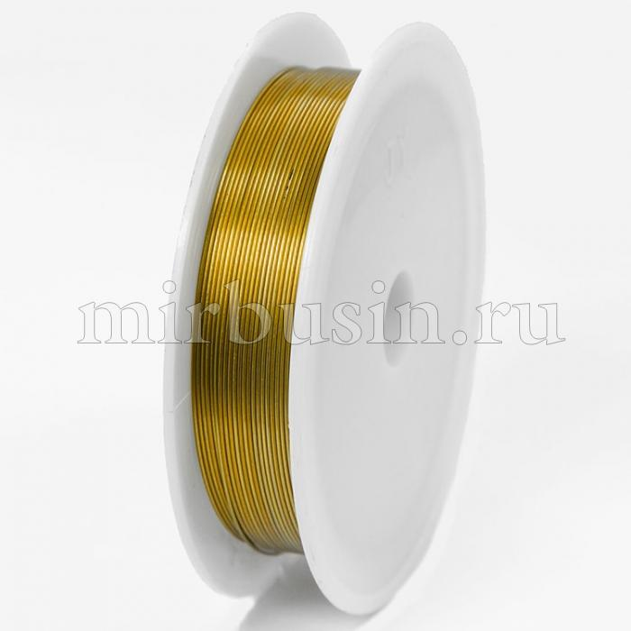 Железная Проволока 0.4мм/12м, Цвет: Золото, Толщина 0.4мм, 12м/катушка, (УТ100005539)