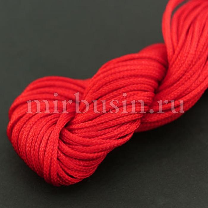 Шнур Нейлоновый, Цвет: Красный, Толщина 1мм, около 24м/связка, (УТ000004563)