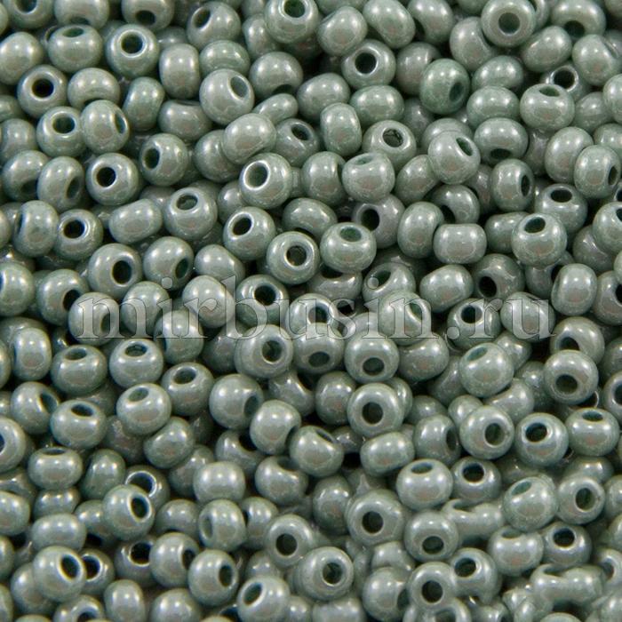 Бисер 46055 Чешский Preciosa 10/0, Естественный непрозрачный NO, Зеленый, Круглый, (УТ100015556)