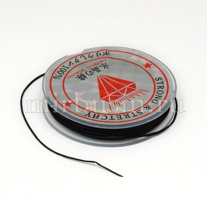 Нить Упругая Эластичная 0.6мм/10м, Цвет: Черный, Толщина 0.6мм, около 10м/1катушка, (УТ100015661)