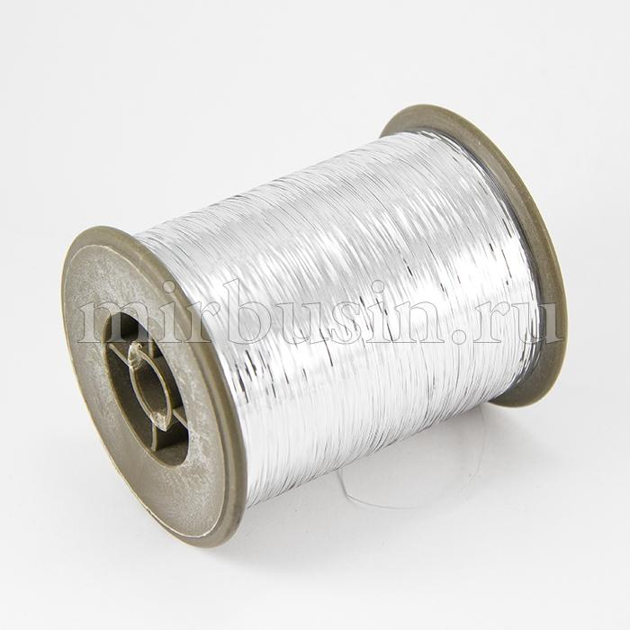 Шнур Металлический, Цвет: Серебристый, Размер: Толщина 1мм, около 2000м/катушка, (УТ100015665)
