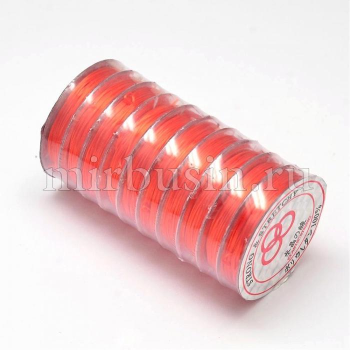 Нить Упругая Эластичная 0.8мм/10м, Цвет: Красный, Толщина 0.8мм, около 10м/1катушка, (УТ100015668)