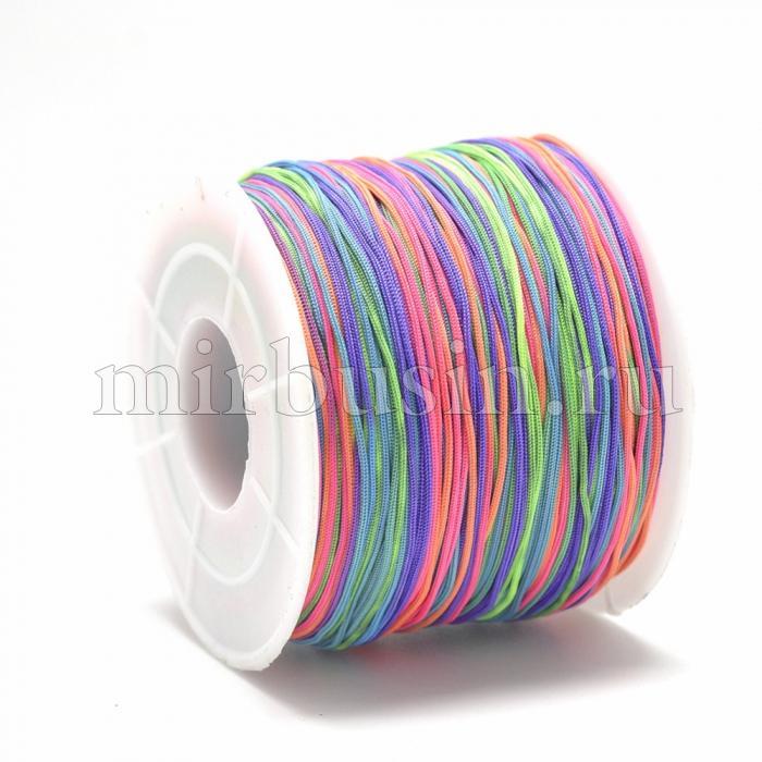 Шнур Полиэстер, Цвет: Разноцветный, Размер: 0.4~0.5мм, 120~130м/катушка, (УТ100015755)