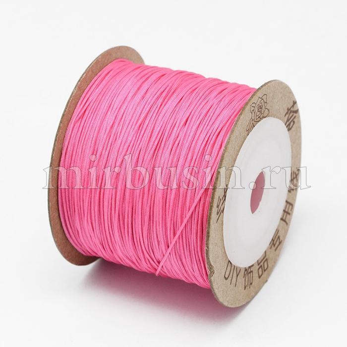 Шнур Нейлоновый, Цвет: Розовый, Размер: Диаметр 0.6мм, (УТ100015789)