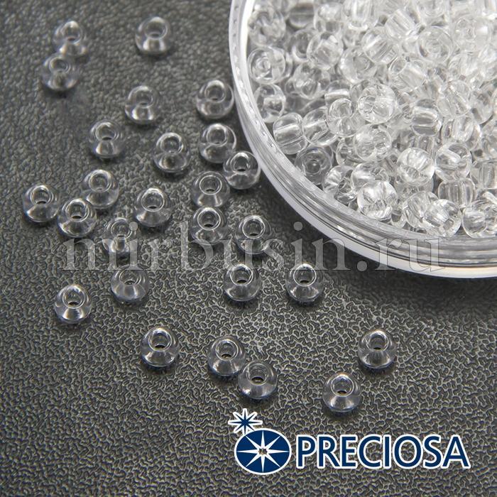 Бисер 00050 Чешский Preciosa 6/0, Прозрачный NT, Белый, Круглый, (УТ100015836)