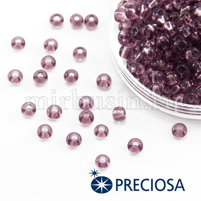 Бисер 20010 Чешский Preciosa 6/0, Прозрачный NT, Фиолетовый, Круглый, (УТ100015842)