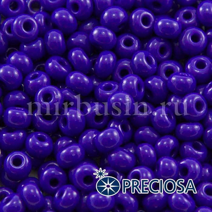 Бисер 33050 Чешский Preciosa 6/0, Естественный Непрозрачный NO, Синий, Круглый, (УТ100015847)