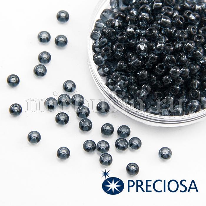Бисер 40010 Чешский Preciosa 6/0, Прозрачный NT, Черный, Круглый, (УТ100015848)