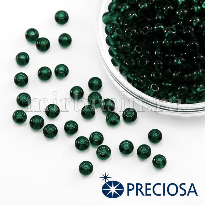 Бисер 50150 Чешский Preciosa 6/0, Прозрачный NT, Зеленый, Круглый, (УТ100015851)