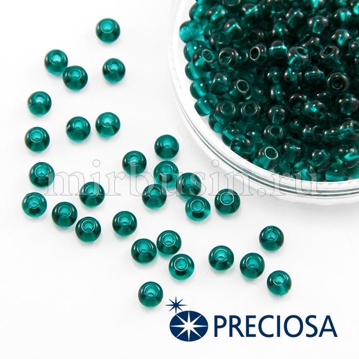 Бисер 50710 Чешский Preciosa 6/0, Прозрачный NT, Зеленый, Круглый, (УТ100015853)