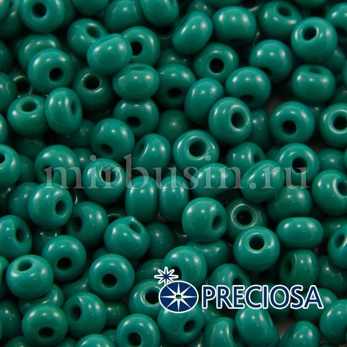 Бисер 53240 Чешский Preciosa 6/0, Естественный Непрозрачный NO, Зеленый, Круглый, (УТ100015856)