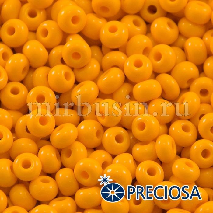 Бисер 93110 Чешский Preciosa 6/0, Естественный Непрозрачный NO, Оранжевый, Круглый, (УТ100015864)