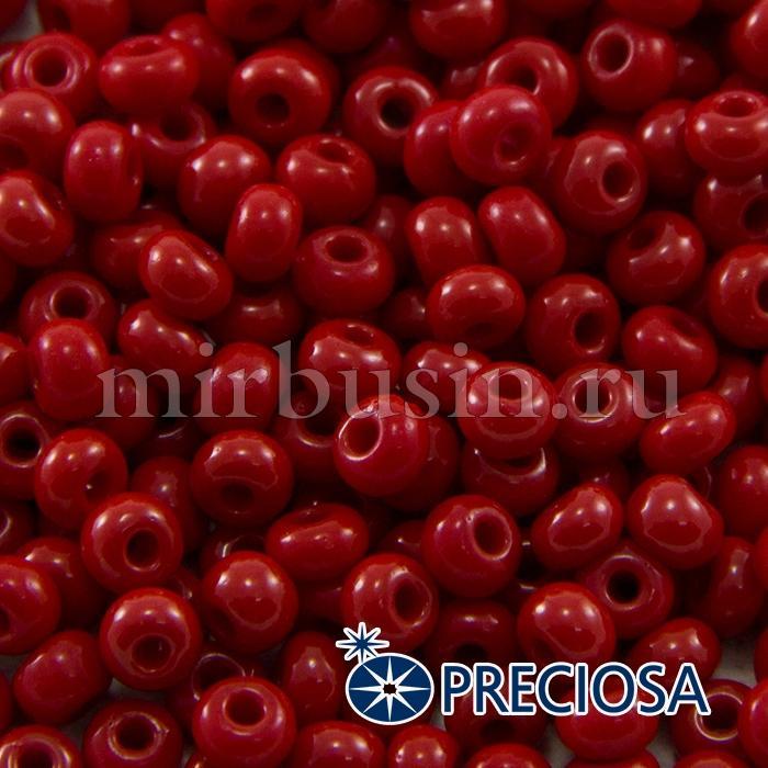 Бисер 93210 Чешский Preciosa 6/0, Естественный Непрозрачный NO, Красный, Круглый, (УТ100015866)
