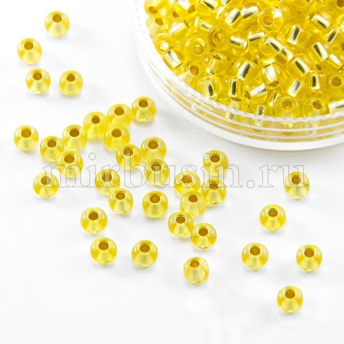 Бисер 08283 Чешский Preciosa 6/0, Кристалл Прозрачный CTCLS, Желтый, Круглый, (УТ100015872)