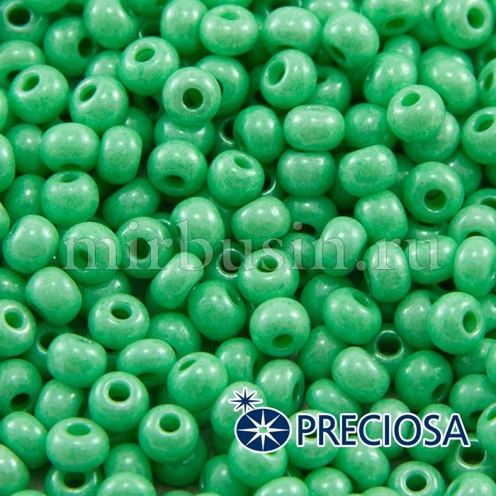 Бисер 16356 Чешский Preciosa 6/0, Солгель Окрашенный SDC, Зеленый, Круглый, (УТ100015880)