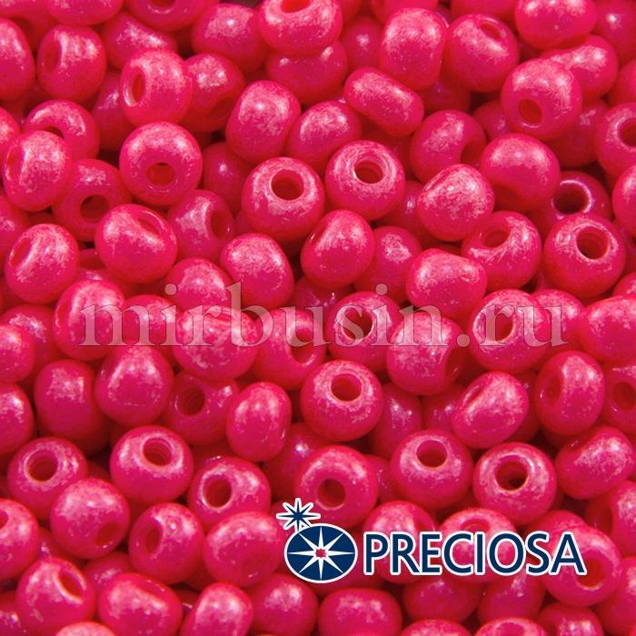 Бисер 16398 Чешский Preciosa 6/0, Солгель Окрашенный SDC, Розовый, Круглый, (УТ100015885)