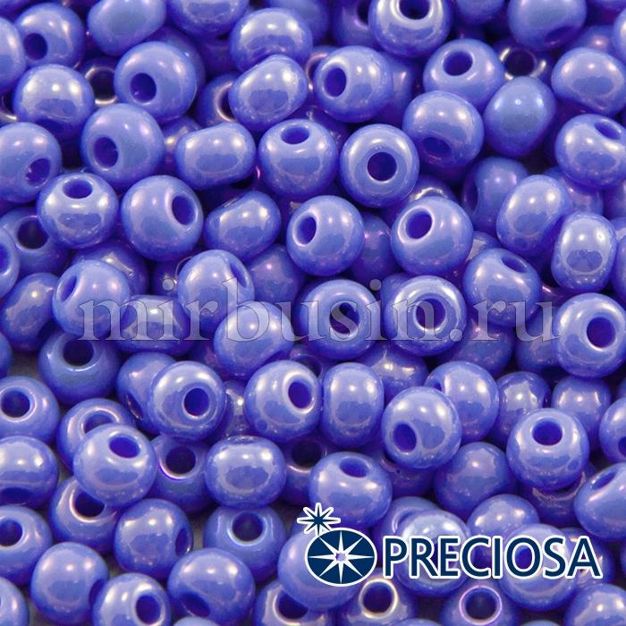 Бисер 34020 Чешский Preciosa 6/0, Непрозрачный Радужный OL, Сиреневый, Круглый, (УТ100015890)