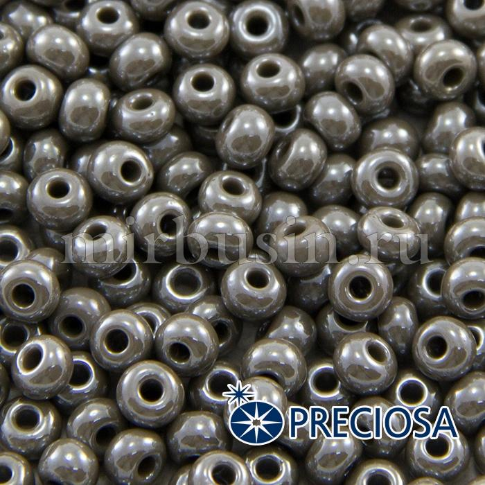 Бисер 48020 Чешский Preciosa 6/0, Непрозрачный Радужный OL, Серый, Круглый, (УТ100015916)