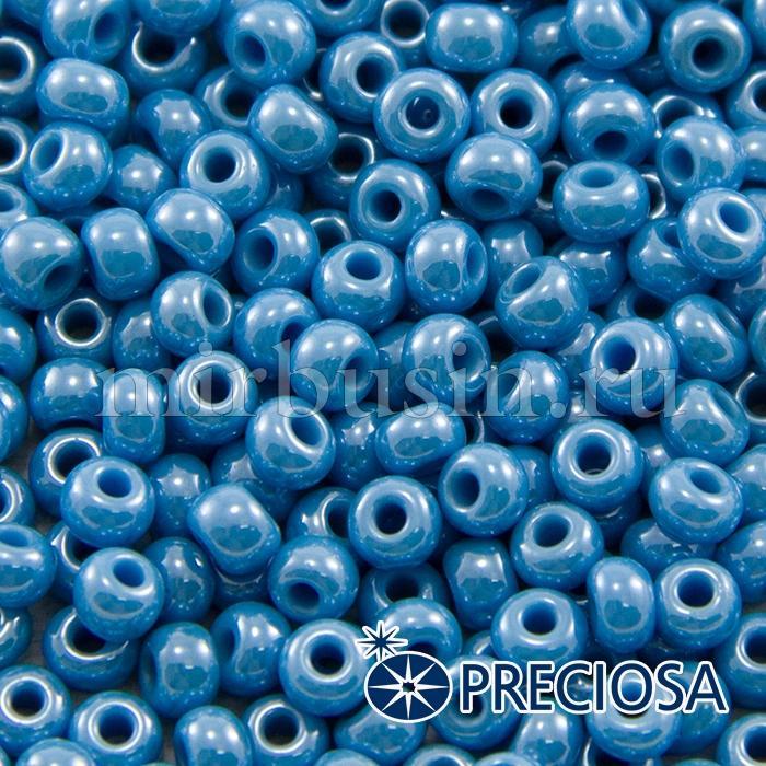 Бисер 68050 Чешский Preciosa 6/0, Непрозрачный блестящий OS, Голубой, Круглый, (УТ100015922)