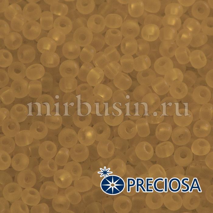 Бисер 10050 Чешский Preciosa 6/0, Прозрачный матовый TM, Коричневый, Круглый, (УТ100015940)