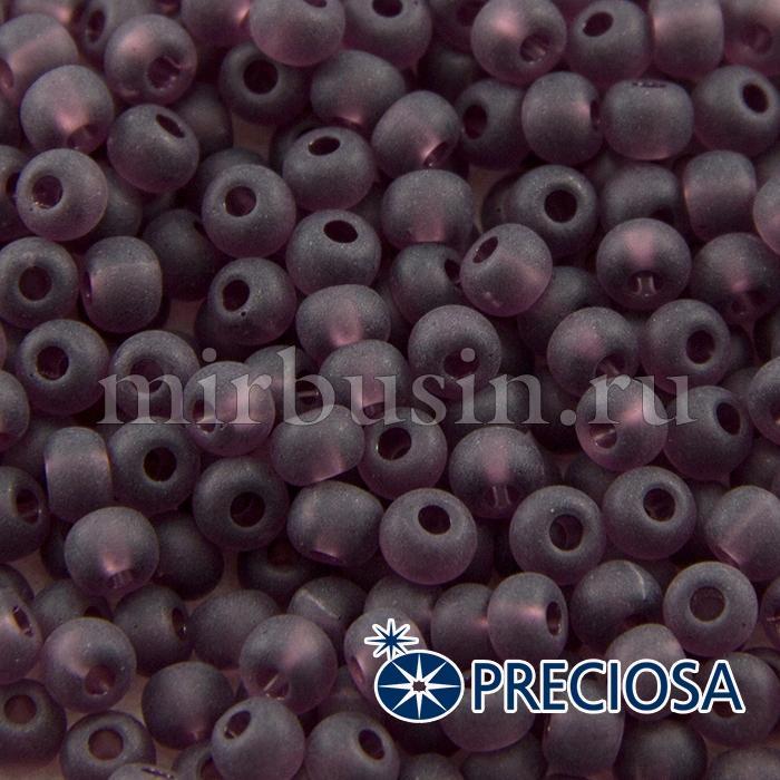 Бисер 20060 Чешский Preciosa 6/0, Прозрачный матовый TM, Фиолетовый, Круглый, (УТ100015941)