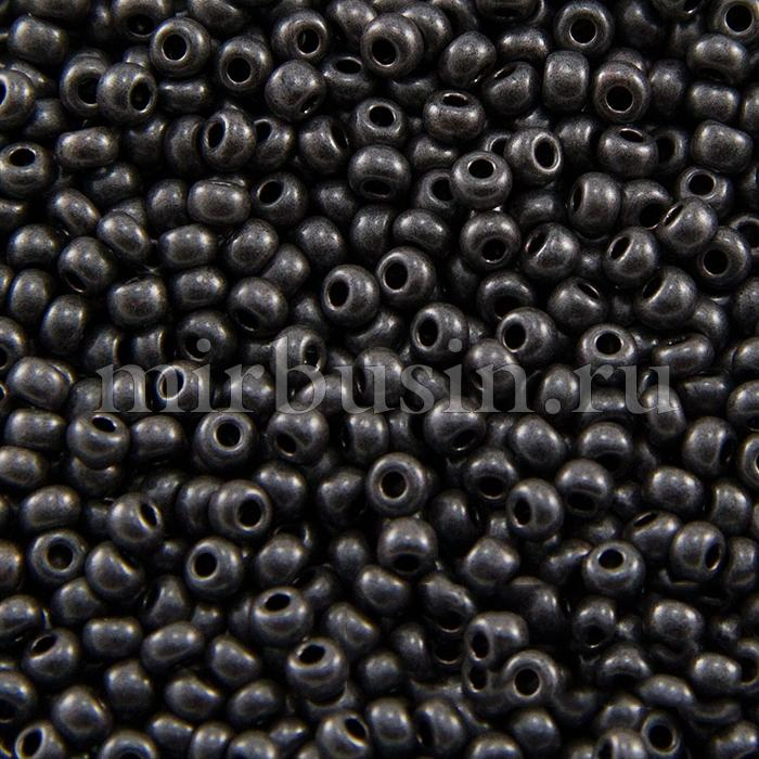 Бисер 28918 Чешский Preciosa 10/0, Непрозрачный блестящий OS, Серый , Круглый, (УТ100015947)