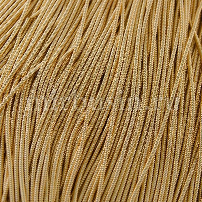 Канитель Фигурная Матовая Зигзаг 2.2мм, Цвет: Золото F10,отрезки не менее 8см, около 55см/4,5г, (УТ100015970)