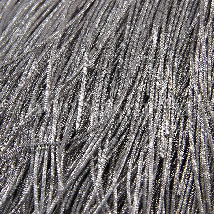 Канитель Трунцал 4 грани 1.5мм, Цвет: Серебро, отрезки не менее 8см, около 180см/5г, (УТ100015971)
