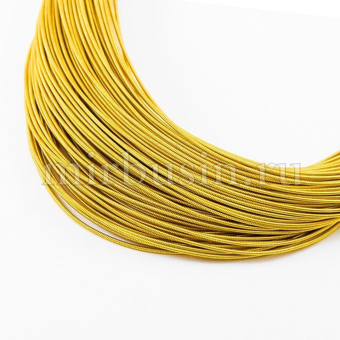 Канитель Жесткая 1.2мм, Цвет: Яркое Золото H12, около 90см/5г, (УТ100015976)