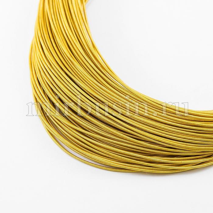Канитель Жесткая 1.1мм, Цвет: Золото H01, отрезки не менее 8см, около 100см/5г, (УТ100015978)