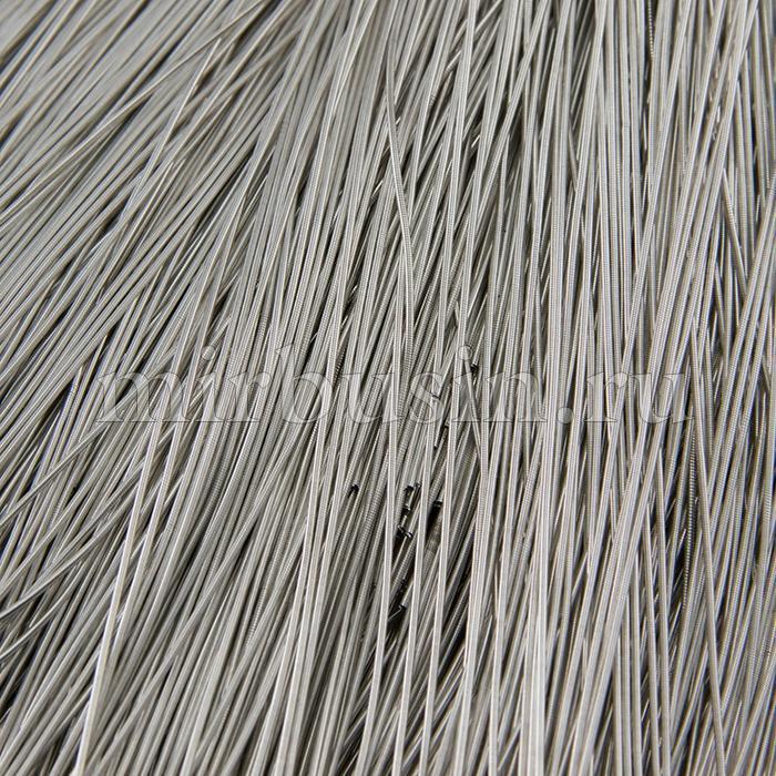 Канитель Гладкая 0.8мм, Цвет: Серебро Глянец, отрезки не менее 8см, около 550см/5г, (УТ100015981)