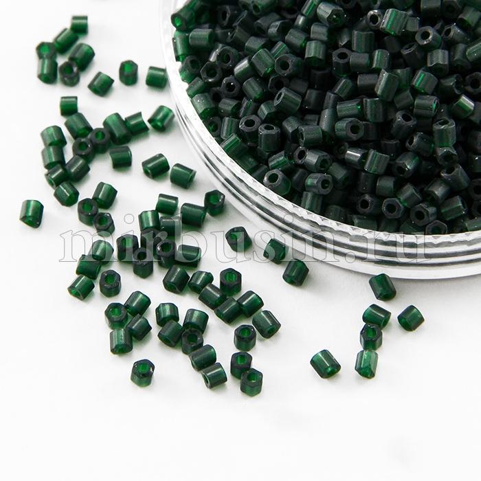 Бисер Рубка 35134/50150/10 Чешский Preciosa, Прозрачный матовый TM, Зеленый, (УТ100016056)