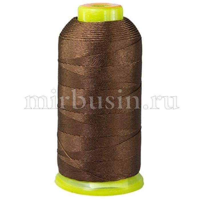 Нить Полиэстер Швейная в катушках, Цвет: Коричневый, Толщина 0.5мм, около 870м/1катушка, (УТ100005579)