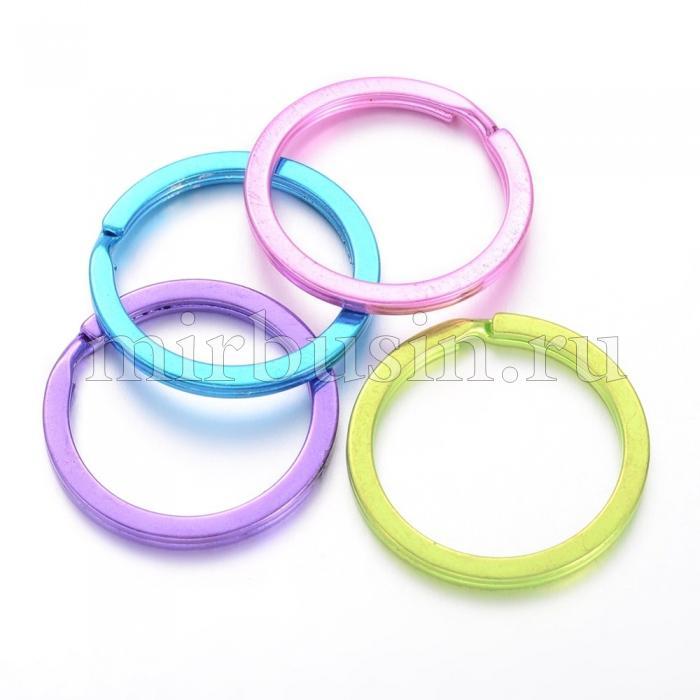 Кольцо Замочек, для Брелков и Ключей, Железное, Цвет: Микс, Размер 33х3мм, (УТ100016334)