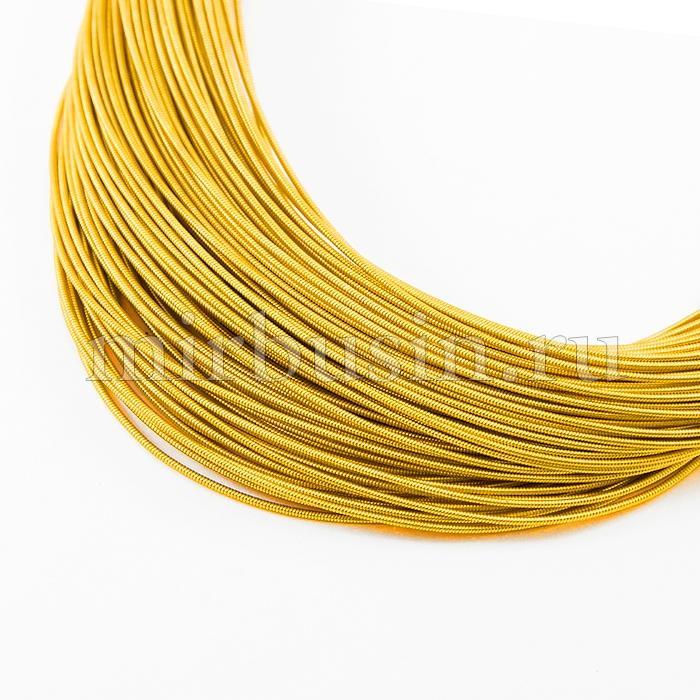 Канитель Жесткая, Цвет: Темное Золото, Диаметр 1мм, около 2.5м/10г, (УТ100016673)