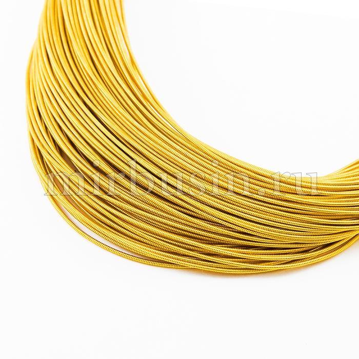 Канитель Жесткая, Цвет: Темное Золото, Диаметр 1.25мм, около 2.5м/10г, (УТ100016674)