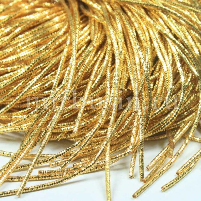 Канитель Трунцал 4 грани, Цвет: Медово-золотой, Отрезки не Менее 8см, Диаметр 0.7мм, около 5.8м/10г, (УТ100016705)