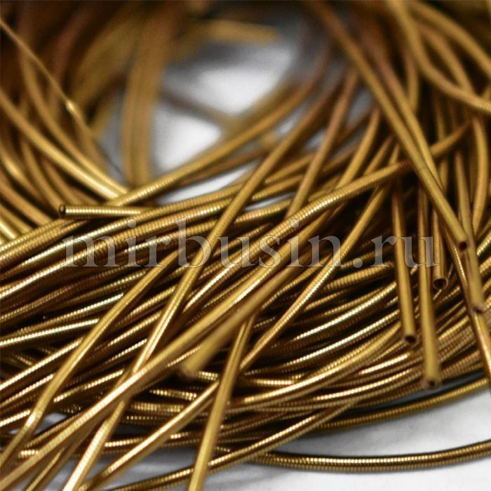 Канитель Гладкая 1мм, Цвет: Античное Золото, Отрезки не Менее 15см, около 580см/10г, (УТ100016736)