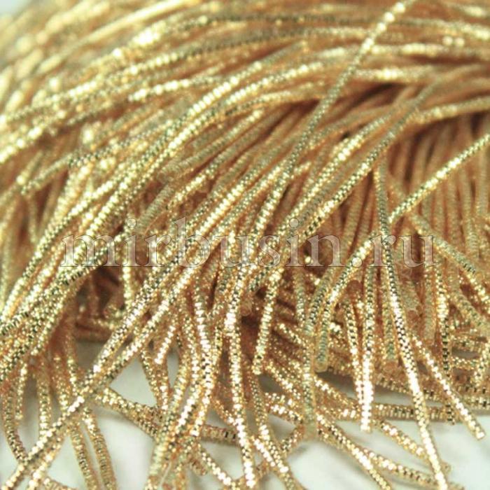 Канитель Трунцал , Цвет: Золотистый, Отрезки не Менее 8см, Диаметр 2мм, около 3.5м/10г, (УТ100016738)