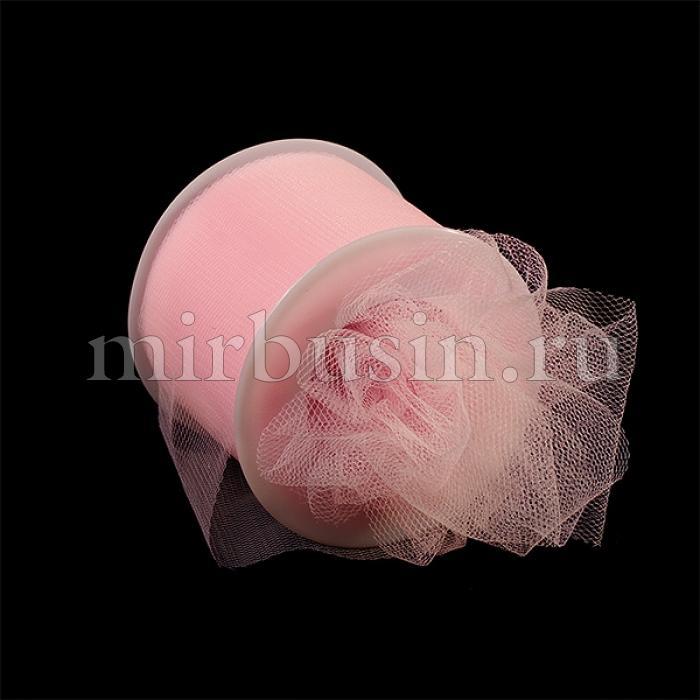 Фатин Нейлон, Цвет: 04 Светло-розовый, Ширина 50мм, катушка 22,86м (УТ100017094)