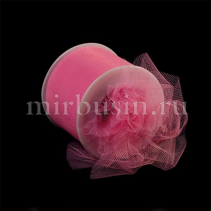 Фатин Нейлон, Цвет: 05 Розовая Пудра, Ширина 50мм, катушка 22,86м (УТ100017095)