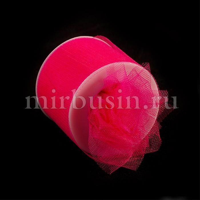 Фатин Нейлон, Цвет: 07 Фуксия, Ширина 50мм, катушка 22,86м (УТ100017096)