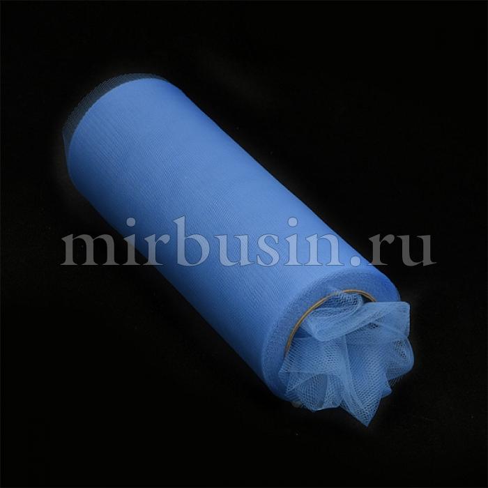 Фатин Нейлон, Цвет: 20 Голубой, Ширина 150мм, катушка 22,86м (УТ100017115)