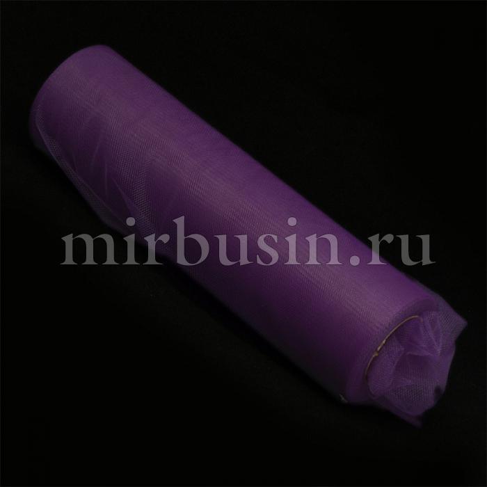 Фатин Нейлон, Цвет: 15 Темно-фиолетовый, Ширина 220мм, катушка 22,86м (УТ100017129)