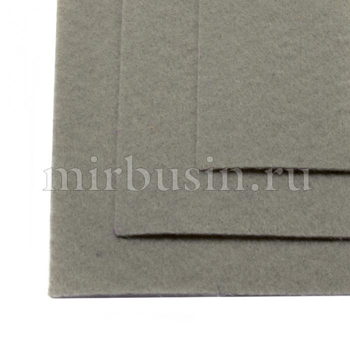 Фетр листовой жесткий, Цвет: 648 Серый, Размер: 20х30см, Толщина: 1мм, уп.10 листов (УТ100017136)