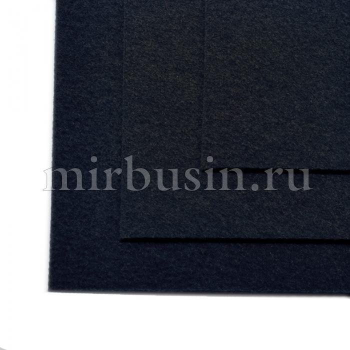 Фетр листовой жесткий, Цвет: 659 Черный, Размер: 20х30см, Толщина: 1мм, уп.10 листов (УТ100017137)