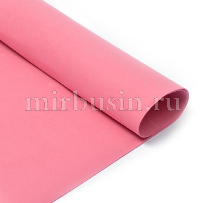 Фоамиран в листах, Артикул A004, Цвет: Темно-розовый, Толщина: 1мм, Размер: 50х50см, (УТ100017143)