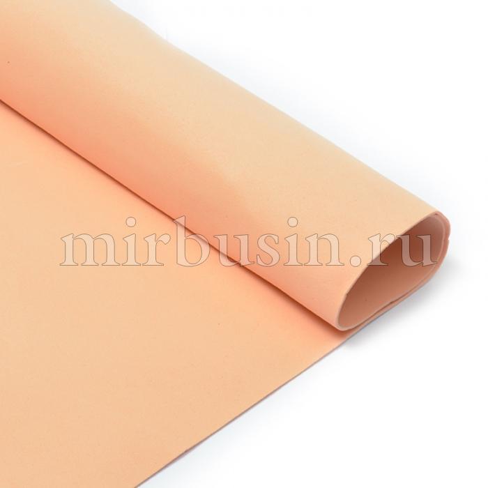 Фоамиран в листах, Артикул A050, Цвет: Персиковый, Толщина: 1мм, Размер: 50х50см, (УТ100017158)