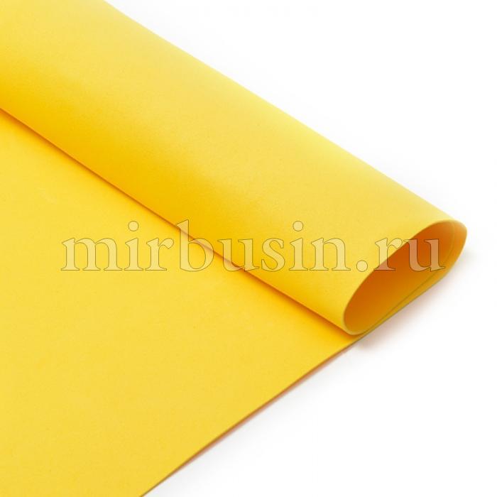 Фоамиран в листах, Артикул N027, Цвет: Желтый, Толщина: 1мм, Размер: 50х50см, (УТ100017166)