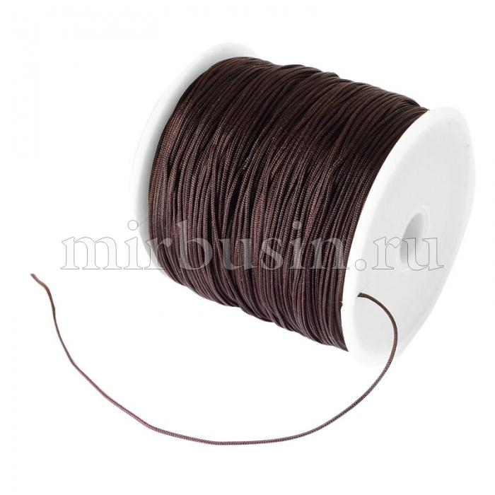 Шнур Нейлоновый, Цвет: Темно-коричневый, Размер: Диаметр 0.8мм, (УТ100018528)